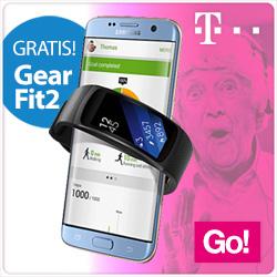 Samsung Galaxy S7 Edge met Gear Fit 2
