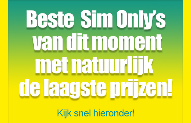 Beste Sim Only's