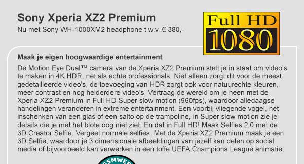 Sony Expira XZ2 Premium Pre-order