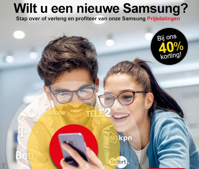Wilt u een nieuwe Samsung? Bij ons 40 procent korting!
