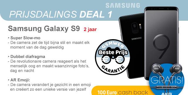 Prijsdaligs Deal 1 met de Samsung Galaxy S9