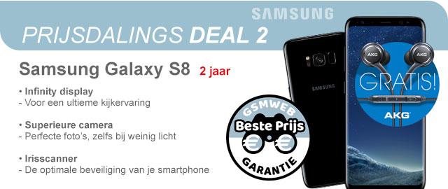 Prijsdaligs Deal 2 met de Samsung Galaxy S8