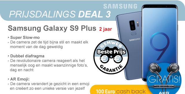 Prijsdaligs Deal 3 met de Samsung Galaxy S9 Plus