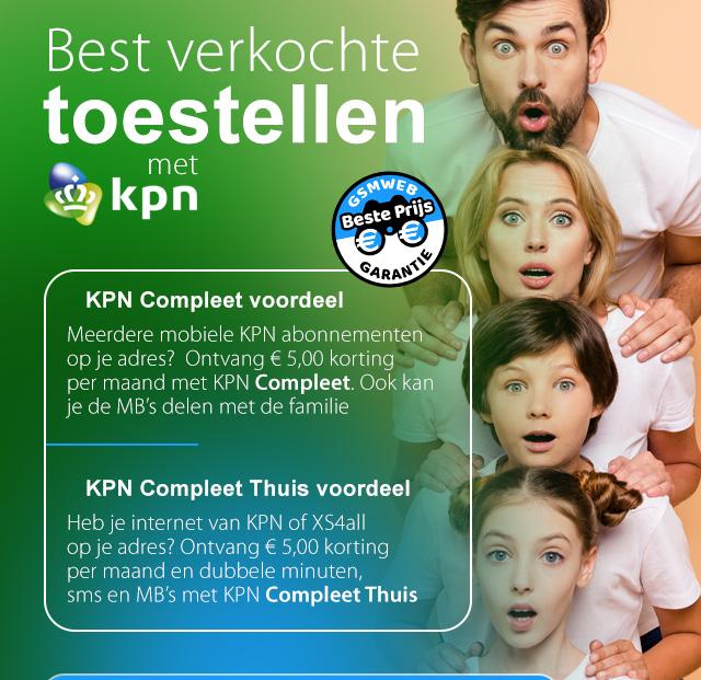Best verkochte toestellen met KPN - familiekiek