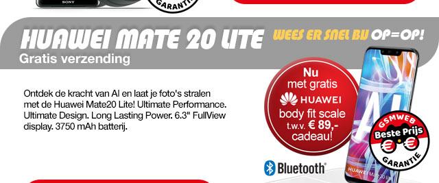 Huawei Mate 20 Lite met gratis body fit scale