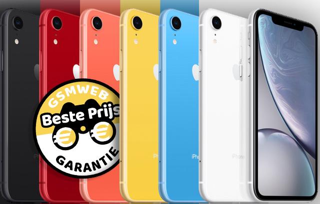 Apple iPhone XR in 6 kleuren en bij ons altijd de beste prijsgarantie!