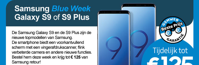 Samsung Blue Week Galaxy S9 of S9 Plus