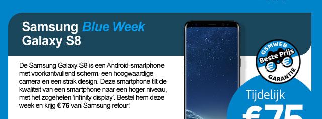 Samsung Blue Week Galaxy S8