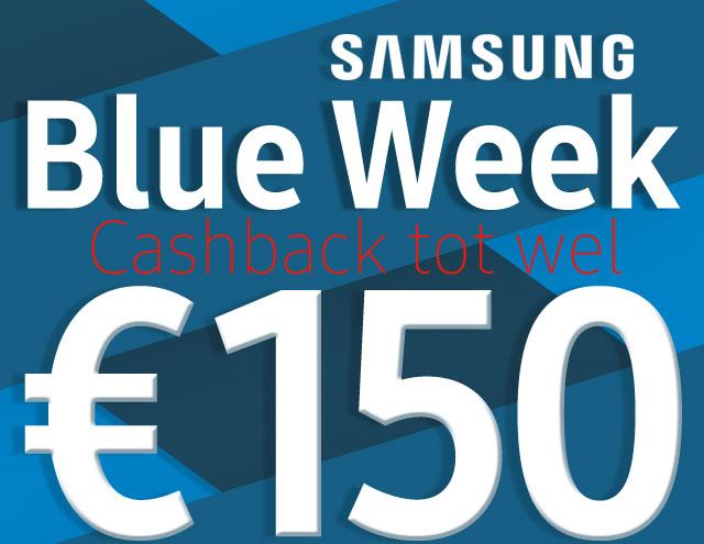 Samsung Blue Week Cashback tot wel 150 Euro!