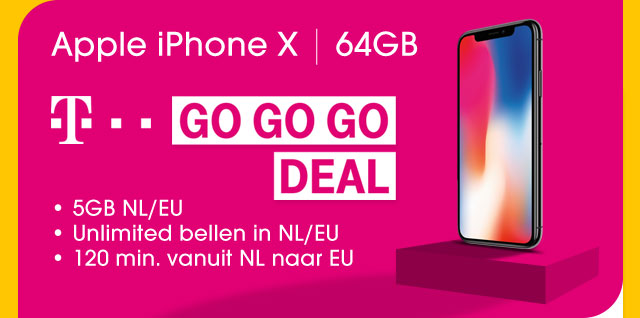 T-Mobile GO GO GO DEAL met de Apple iPhone X - 64GB